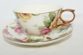 Royal Elfreda Floral Roses Chintz Tea Cup & Saucer - $22.49