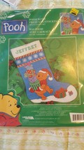 "LEISURE ARTS ""Pooh"" Pooh With Presents Stocking Needlepoint #113263 - $14.84"
