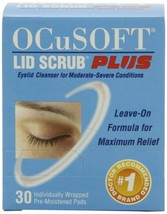 OCusoft Lid Scrub Plus Pre-Moistened pads (30 ct) $2.00 off coupon - $15.39