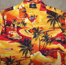 Mens Royal Creations Large L Hawaiian Shirt Cotton Palm Tree Surfboard P... - $18.69