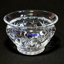 """1 (One) WATERFORD Marquis GLENBROOK Cut Crystal 5.5"""" Bowl - Signed W Tag - $28.49"""