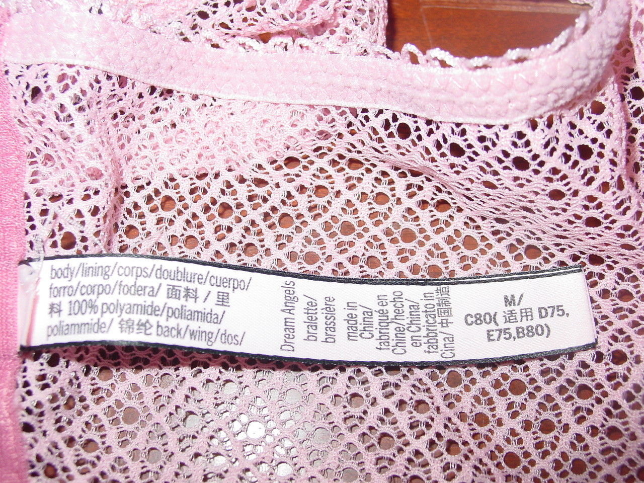 b3515161a06 Victoria s Secret Dream Angels pink dusty rose laced up bra bralette high  neck-M