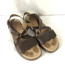 Dansko Womens Shoes Sandals Strappy Buckle Open Toe Woven Brown Size 40 - $38.69