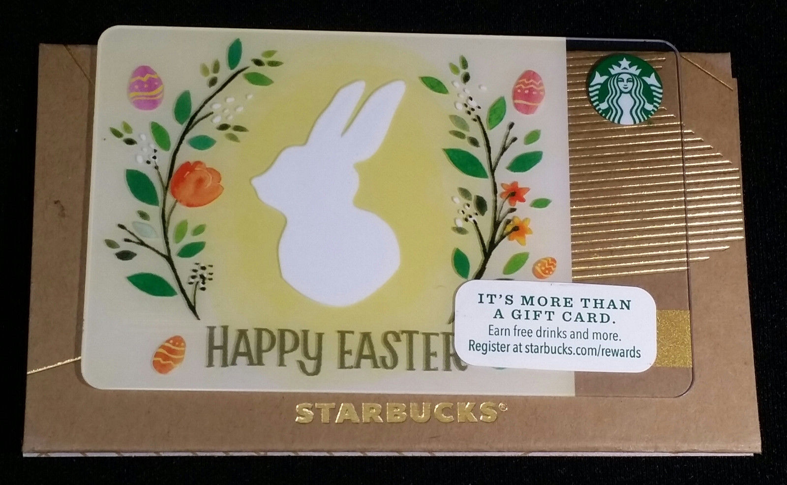 6118 2015 starbucks happy easter white and 50 similar items 6118 2015 starbucks happy easter white bunny eggs flowers one empty gift card negle Gallery