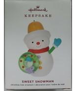 2019 Hallmark Keepsake Ornament Sweet Snowman Limited Edition NIB - $19.99