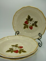 Mikasa Whole Wheat Strawberry Festival EB801 3  Cereal/Serving Bowl Perfect - $32.66