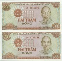 200 Vietnam Dong Banknote Bundle 1987 P-108 UNC USA Fast Free Ship - $0.98