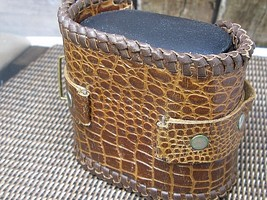 VINTAGE genuine Crocodile wide hand made watch band (Australia) - $107.53