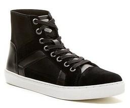 GUESS Toledo Men's Suede Hi-Top Fashion/Athletic Sneaker Shoes, Black, S... - $49.37