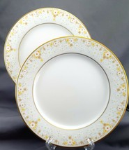 Noritake Fragrance Salad Plates Set of 2 Ivory Yellow White Daisies 8.25... - $18.81