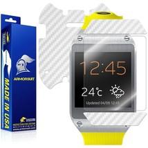 ArmorSuit MilitaryShield Samsung Galaxy Gear Screen + White Carbon Fiber Skin - $29.99