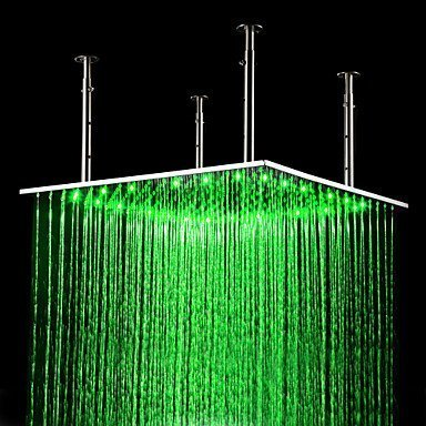 Primary image for 24 inch Stainless Steel Shower Head with Color Changing LED Light