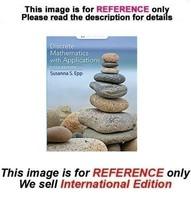 Discrete Mathematics with Applications by Susanna, 5th (International Ed... - $69.90