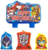 Amscan Mighty Transformers Birthday Party Molded Character Candle Decor... - $15.51