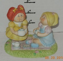 "Vintage 1984 Xavier Roberts Ceramic Cabbage Patch ""Tea Time"" Figurines - $32.73"