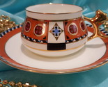 Lomonosov Coffee tea set Vasilisa cup and saucer, Russian Porcelain Bone china
