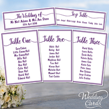 Personalised Wedding Party Table Plan Name Decoration Stationery card AN... - $1.31