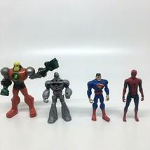 Mattel Cyborg, Superman ,Mettallo Battle Damage & Spiderman Action Figures - $18.69