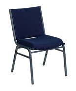 Offex OFX-89945-FF 3'' Thickly Padded Navy Patterned Upholstered Stack C... - $128.52