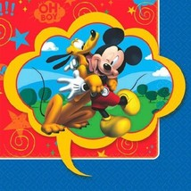 Mickey Mouse Clubhouse 16 Ct Beverage Napkins Birthday - £3.02 GBP