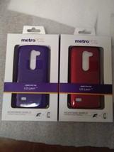 LG Leon MetroPCS Kickstand Shield w Screen Protector Red, Purple - $9.99