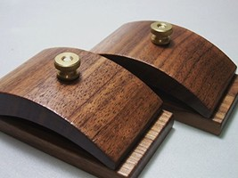 1 Pair Walnut Wood Quilt Hang-Ups Clamps Clips - Large - $34.98