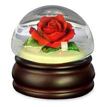 Red Rose Mushroom Water Globe The San Francisco Music Box Company - $52.89