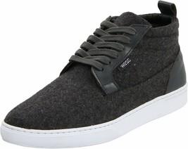 WeSC Men's Charcoal Melange Hagelin Melton Wool Fashion Sneakers Shoes NIB