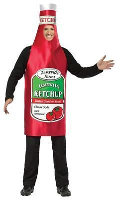 Ketchup Costume Zestyville Condiment Food Halloween Party Unique Cheap GC338