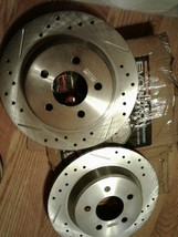 Power Stop ar8146xl xr Evolution Drilled & Slotted Performance Rear Rotors, Pair image 1
