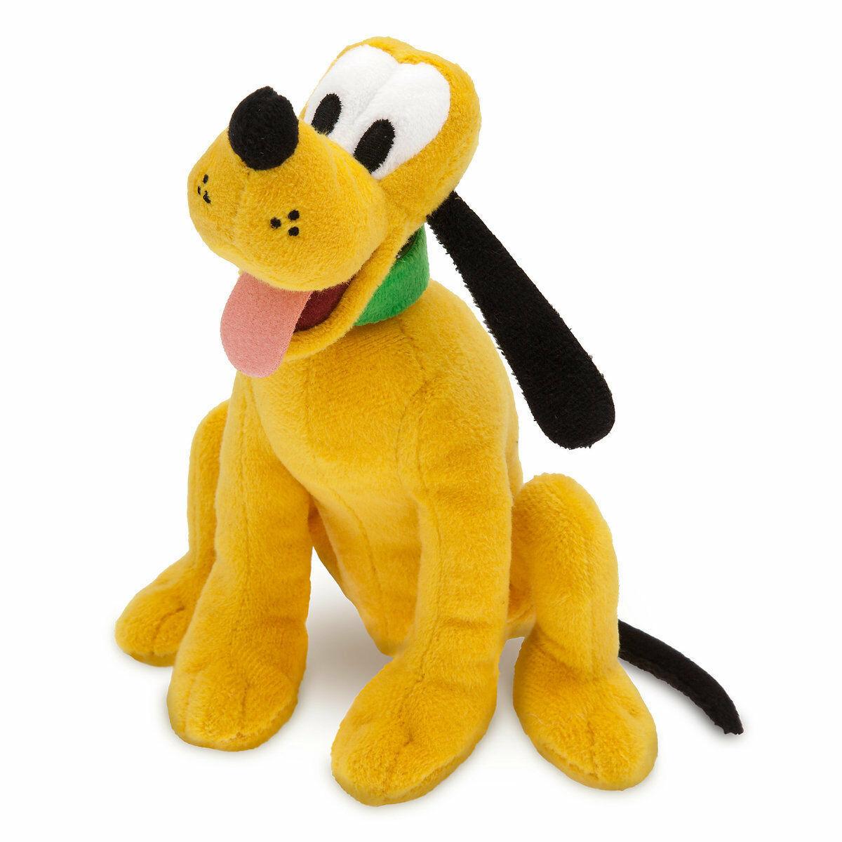 Disney Store Pluto Plush Mini Bean Bag 8'' New with Tag