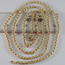18K YELLOW GOLD CHAIN ROUNDED ROLO ROUND LINK, CIRCLES NECKLACE, MADE IN ITALY image 1