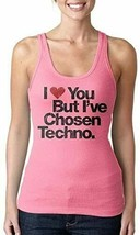 I Love You But I've Chosen Women's Techno Hot Pink Tank Top Cami Shirt NEW