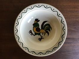 "Metlox Poppytrail Green Rooster 10""  Vegetable Bowl California Provincial - $14.85"