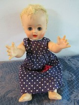 "15"" Doll Horsman Blond Sleepy Eyes Patched Jumper - $18.88"