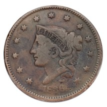 1836 Large Cent 1C Very Good Condition Brown Color, Full Bold Liberty - $49.49