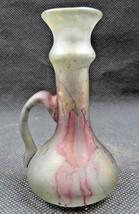 Vintage Hand blown miniature glass vase Abstract décor Pop Art deco - $36.00