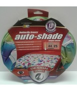 """Auto Shade Set 2 Pastel Butterfly Frenzy Reversible Design Series 28.5"""" ... - $13.00"""