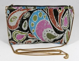 New Multi Color Mesh Paisley Mod Groovy Wedding Party Cocktail Bag Whiti... - $41.02