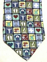 Anatomical Chart Company Men's Doctor Icons 100% Silk Made USA Neck Tie Necktie - $10.68