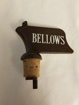 VINTAGE BAR BARWARE BELLOWS  PLASTIC Black and White LIQUOR SPOUT POURER - $4.70