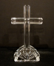 Waterford Marquis Elegant Crystal (Altar) Cross Signed (Etched) - $24.00