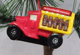 Miniature Figural Coca Cola Coke Bottle Delivery Truck Mini Christmas Or... - $6.19