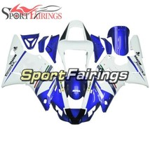 For Yamaha R1 YZF1000 R1 2000 2001 00 01 Blue White Injection Bodywork F... - $393.87