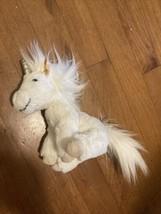 """NWOT 7"""" tall Steiff White & Silver Unicorn Bean Bag Plush Doll Toy Ear Tag - $19.80"""