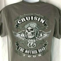 Route 66 Cruisin The Mother Road 2015 Tour Skull M T-Shirt Medium Mens B... - $26.96