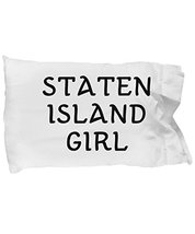 Unique Gifts Store Staten Island Girl - Pillow Case - $17.95
