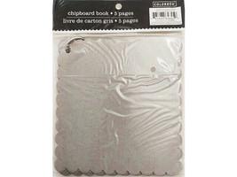 "Colorbok Chipboard Book Mini Album, 6"" x 6"" with Scalloped Edges"