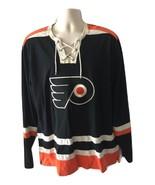 Philadelphia Flyers Old Time Hockey Jersey Black Orange Jersey Shirt Top... - $99.99