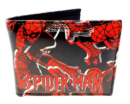 MARVEL COMICS AMAZING SPIDERMAN LOGO SUBLIMATED PRINT GRAPHIC MENS BIFOL... - $14.80